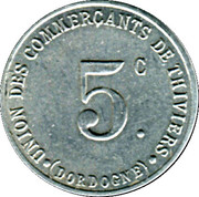 5 Centimes (Thiviers) – obverse