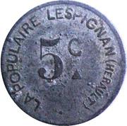 5 Centimes (Lespignan) – obverse
