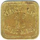 1 Franc Châlet du Lac - SAINT-MANDE (94) – reverse