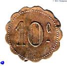 10 Centimes (Ouveillan) – reverse