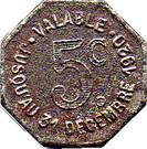 5 Centimes (Albi) – reverse