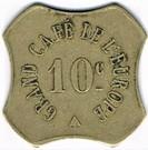 10 centimes Grand café de l'Europe - MONTAUBAN (82) – obverse