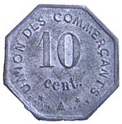 10 Centimes (Jonzac) – reverse