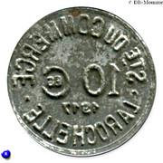 10 Centimes (La Rochelle) – obverse