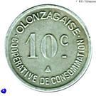 10 Centimes (Olonzac) – reverse