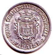 25 Centimes (Falaise) – obverse