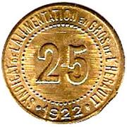 25 Centimes - Syndicat de l'alimentation en Gros de l'Hérault [34] – reverse
