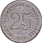 25 Centimes (Bayeux) – reverse