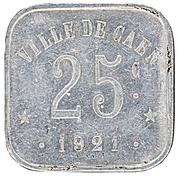 25 Centimes (Caen) – reverse