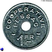 1 Franc (Pessac Emergency Coinage) – reverse