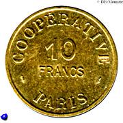 10 Francs (Emergency Coinage) – reverse