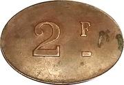 2 Francs (Bourdon-Majerus Reims) – reverse