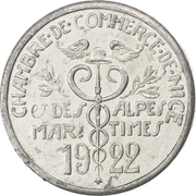 5 Centimes (Nice) – obverse