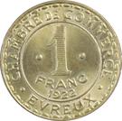 1 Franc (Evreux) – reverse