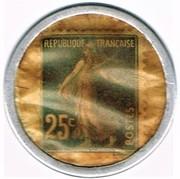 25 Centimes - Crédit Français – reverse