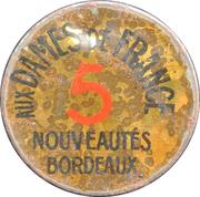 5 Centimes - Aux dames de France – obverse