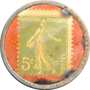 5 Centimes - F. Massart – reverse