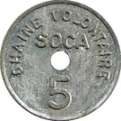 5 Francs - SOCA Chaine volontaire (Strasbourg) – obverse