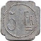 5 Francs - J.B Fanget (Saint Etienne) – reverse