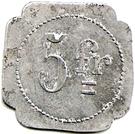 5 Francs - Fanget Chavanelle (Saint Etienne) – reverse