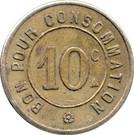 10 Centimes - Automatique le moderne (Paris) – reverse
