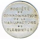 1 Franc - Société de Consommation de la Manufacture de Plombières (Plombières-les-Bains) – obverse