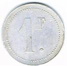 1 Franc - Société de Consommation de la Manufacture de Plombières (Plombières-les-Bains) – reverse