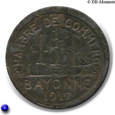 5 centimes chambre de commerce 1917 bayonne 64 - Chambre du commerce bayonne ...