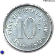 10 Centimes (Castres) -  reverse