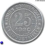 25 Centimes (Charlieu) – reverse