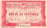 25 Centimes - Chambre de commerce du Tréport – obverse