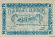 50 Centimes - Town of Mulhouse [68] – reverse
