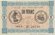 1 Franc - Town of Mulhouse [68] – obverse