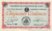 50 centimes - Chambre de Commerce de Lure [70] – obverse