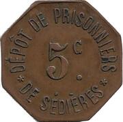 5 Centimes - Dépôt de prisonniers de Sédières – obverse