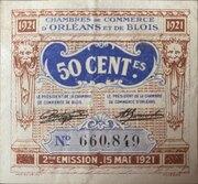 50 centimes - Chambre de Commerce d'Orléans et de Blois [45] [41] – obverse