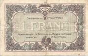 1 Franc - Chambres de Commerce de Mâcon [71] et de Bourg [01] – reverse