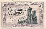 50 Centimes - Chambre de Commerce de la  Marne [51] – obverse