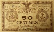 50 centimes - Chambre de Commerce des CÔTES DU NORD [22] – obverse