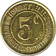 5 Centimes - Caisse de Famille – reverse