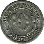10 Centimes - Mercerie Lyonnaise (Montpellier) – reverse