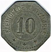 10 Pfennig - Festungs-Feuerwehr (Thionville) – reverse