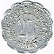 25 Centimes - Nouveautés Turlotte (Bruay-en-Artois) – obverse