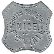 6 Francs - François Viale (Nice) – obverse