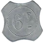 6 Francs - François Viale (Nice) – reverse