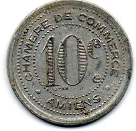 10 centimes amiens french cities numista for Chambre de commerce amiens