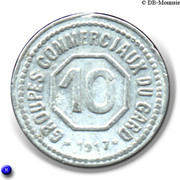 10 Centimes (Gard) -  reverse