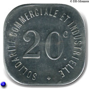 20 Centimes (Neuilly s/ Seine) -  reverse