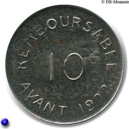 10 centimes bayonne french cities numista - Chambre de commerce bayonne ...