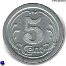 5 Centimes (Ham) – reverse